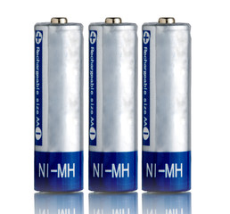 AA Batteries isolated on white background