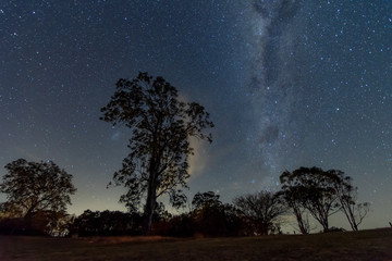 The Milky Way and Rural Landscape