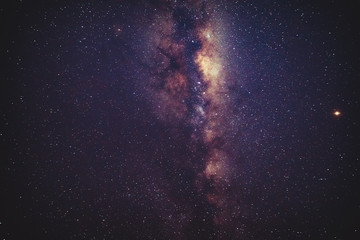 Milky Way stars as seen from a southern hemisphere. Mars is in central right part of image.