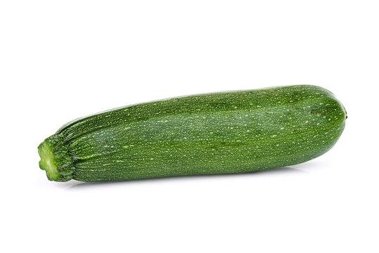 fresh whole zucchini cucumber isolated on white background