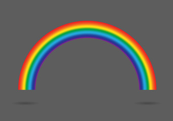 Modern rainbow gradient isolated on gray background