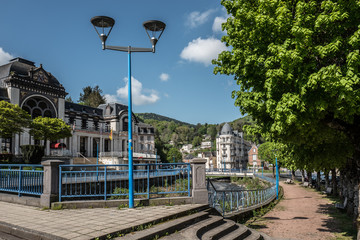 promenade dans la ville de La Bourboule