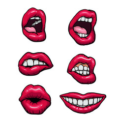Vector lips set.vector illustration.