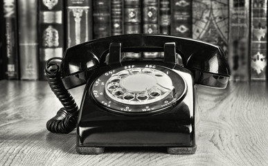 Old Style Rotary telephone.