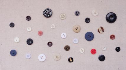 An assortment of round buttons