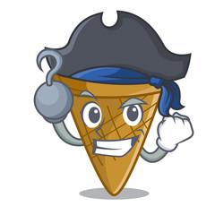 Pirate wafer cone character cartoon