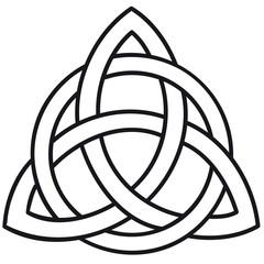 Celtic knot Triskele template silhouette