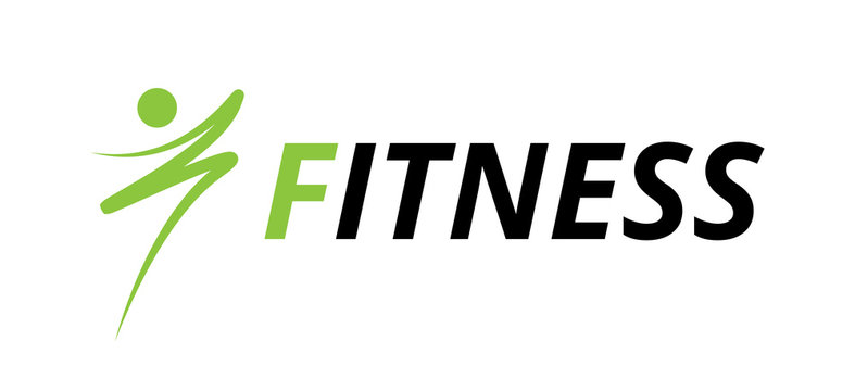 Fitness graphic design, fit icon draw, blue logo