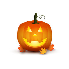 Cute pumpkin. Cartoon illustration for halloween, thanksgiving day
