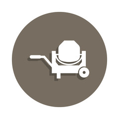 concrete mixer icon in badge style. One of Construction Materials collection icon can be used for UI, UX