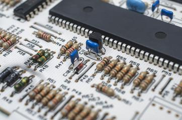 microcircuit, electronic scheme of texture