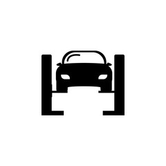 Car lifted icon