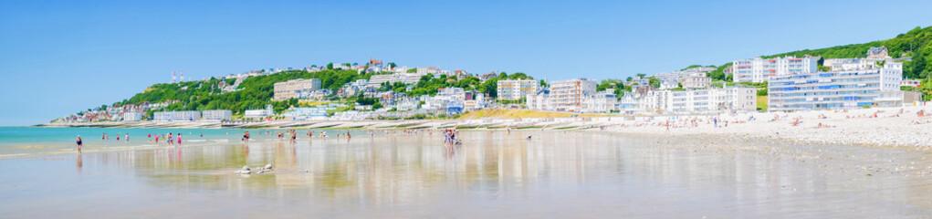 Le Havre et sa plage en Normandie, France