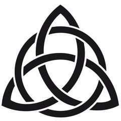 Celtic knot silhouette walltattoo