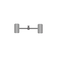 Axle and wheel car icon