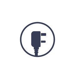 uk electric power plug, vector icon