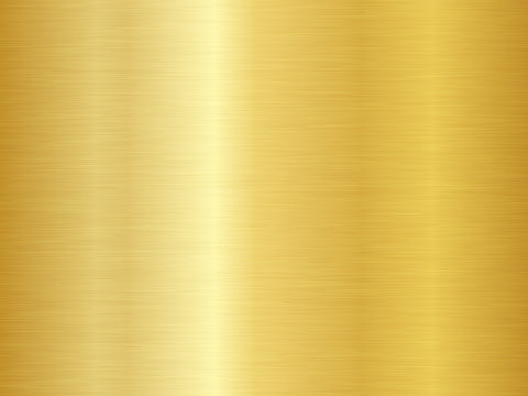 Brushed metal texture. Vector gold background. Seamless gold metal texture.