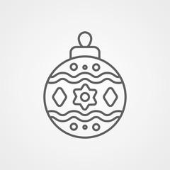 Bauble vector icon
