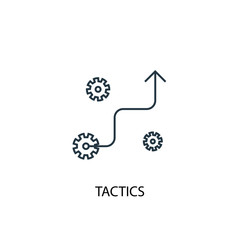 tactics concept line icon. Simple element illustration. tactics concept outline symbol design from success set. Can be used for web and mobile UI/UX