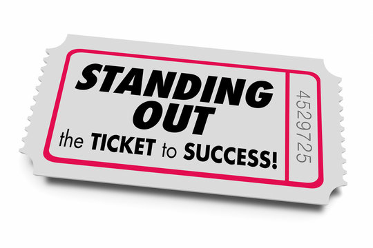 Standing Out Be Unique Ticket to Success 3d Animation