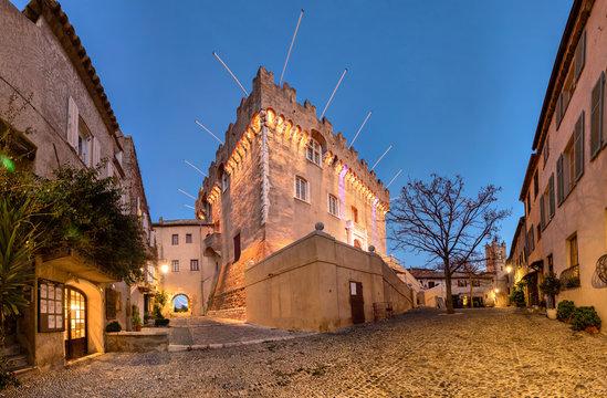 Medieval castle at le Haut-de-Cagnes town, France