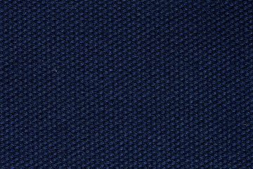 Strict blue fabric texture for new interior.