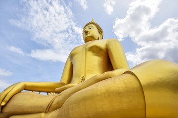 great buddhists in thai&blue sky