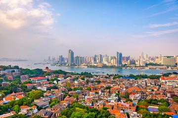 Fototapete - Xiamen, China Skyline