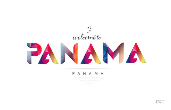 Welcome to panama panama city card and letter design typography icon