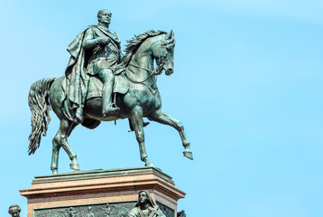 equestrian statue of King Friedrich Wilhelm near the Old National Gallery