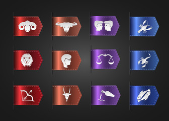 Zodiac Horoscope - Astrology. The original symbols of the zodiac for design.