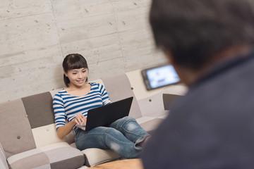 using laptop recording video