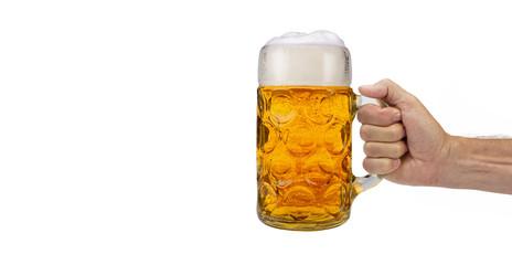Poster de jardin Biere, Cidre Maßkrug Bier auf dem Oktoberfest in München