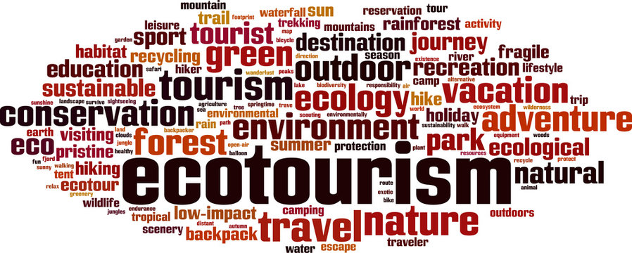 Ecotourism word cloud