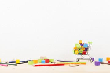 散らかる買い物商品