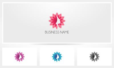 Woman Face Flower Logo