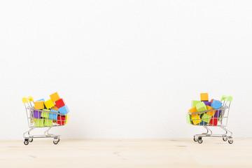 溢れる買い物カゴ