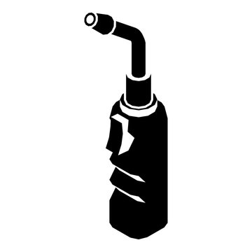 Avto welding torch icon. Simple illustration of avto welding torch vector icon for web