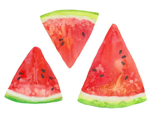 three slices  watermelon