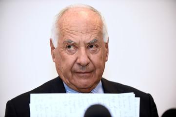 Autostrade per l'Italia Chairman Cerchiai attends news conference in Genoa