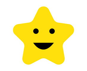 Cute happy star