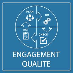 Logo engagement qualité.