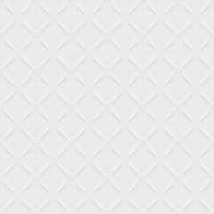 Vector white modern seamless pattern. Volumetric geometric pattern