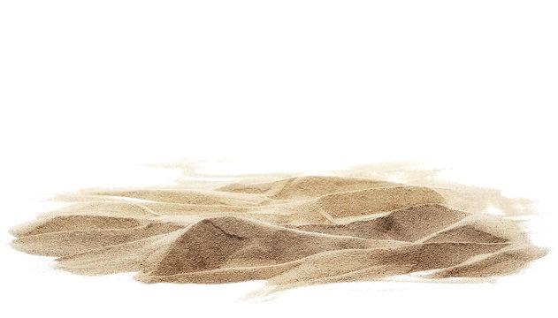 sand pile isolated on white background