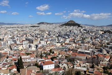Fond de hotte en verre imprimé Athènes Vue d'Athènes