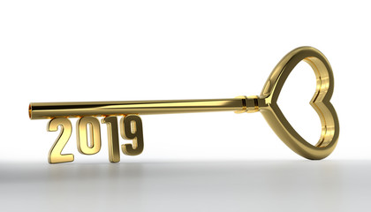 New Year 2019 with Gold Key