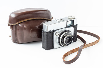 Old Camera with original case right view