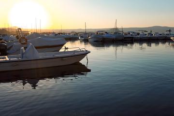 Porto di Capodimonte al tramonto