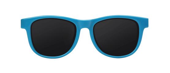 blue sunglasses Wall mural