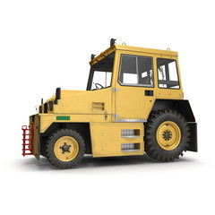 Airport Push Back Tractor. 3D illustration isolated on white background
